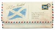 Scottish I Love Scotland Saltire Flag Postcard Tri Fold Purse