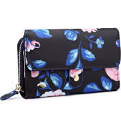 Miss Lulu Ladies Flower Oilcloth Polyester Fashion Wallet Purse for Women Girls