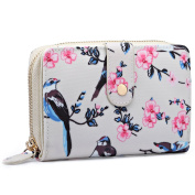 Miss Lulu Fashion New Bird Pattern Flower Wallet Purse Pouch