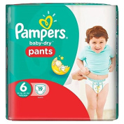Pampers Baby Dry Pants Nappies Carry Pack, Size 6 - 19 Nappies