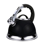 Voche® 3.5 Litre Metallic Black Stainless Steel Stovetop Whistling Kettle