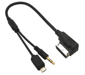 AMI Audi Music Interface MDI Volkswagen Media Device Inteface MMI to 3.5mm Aux and Micro USB Adapter