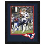 NFL New England Patriots Logo Mat Picture Frames, Blue, 33cm x 41cm