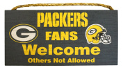 NFL Green Bay Packers 30cm x 15cm Fans Welcome Others Not Allowed Wood Sign