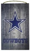 NFL Dallas Cowboys 30cm x 48cm Grey Distressed Logo Wood Sign