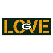 Green Bay Packers Love 8x23 Wooden Sign
