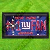 NEW YORK GIANTS WALL CLOCK - BY TAGZ SPORTS