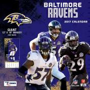 Turner Licencing Sport 2017 Baltimore Ravens Team Wall Calendar, 30cm x 30cm