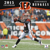 Turner Perfect Timing 2015 Cincinnati Bengals Mini Wall Calendar