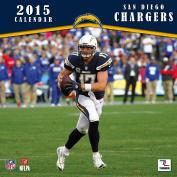 Turner Perfect Timing 2015 San Diego Chargers Mini Wall Calendar