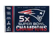 NFL New England Patriots Super Bowl 51 5x Champions 0.9m x 1.5m Flag