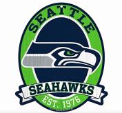 Seattle Seahawks Wood Street Sign 28cm x 33cm NFL