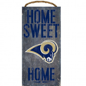 Los Angeles Rams NFL Team Logo Garage Home Office Room Wood Sign with Hanging Rope - HOME SWEET HOME