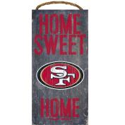 San Francisco 49ers Home Sweet Home Wood Sign 30cm x 15cm