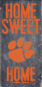 Clemson Tigers Wood Sign - Home Sweet Home 6x12