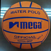 Water Polo Ball. Mega. Orange. Size 4 for Junior and Women Competitions