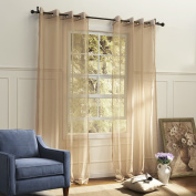 IYUEGOU Country Elegant Beige Solid Eco-friendly Sheer Curtains Grommet Top With Custom Multi Size 110cm W x 160cm L