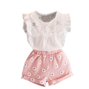 For 1-7 Years Old Girls Clothes Set, Internet Baby Girls Outfits Clothes T-Shirt Vest Tops+Shorts Pants