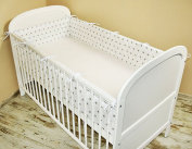 Cot bumper with Nest Head Guard Bumper 420x30 cm 360X30 CM 180x30 cm Cot Bumper Stars Cot Bumper Bed White