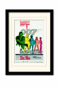 James Bond Dr No One Sheet A3 Framed and Mounted Print