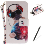 Samsung Galaxy S7 Edge Case,MAGQI Samsung Galaxy S7 Edge Leather Case,Wild Animals Series Pattern Premium Slim Fit Flip PU Wallet Cover with Colourful Detachable Hand Strap [Stand Function][Cash and Card Slots] Magnetic Folio Notebook style Skin Cover ..