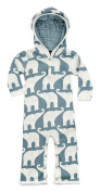 Milk Barn Baby Romper Suit with Hood in different designs - blue - M