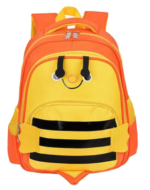 Lovely Bee Backpack Lightweight School Bag for 5 to 9 Years Old Children (Orange/ Yellow)