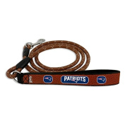 NFL New England Patriots Football Leather Rope Leash, Medium, Brown