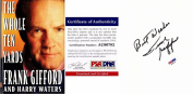 Frank Gifford Signed - Autographed The Whole Ten Yards Hardcover Book with PSA/DNA Authenticity - New York Giants - Deceased 2015