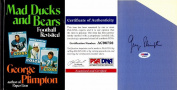 George Plimpton Signed - Autographed Mad Ducks and Bears (Alex Karras and John Gordy) 1973 Hardcover Book with PSA/DNA Authenticity - Detroit Lions - Deceased 2003