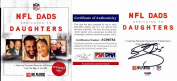 Donovan McNabb and DeMaurice Smith Signed - Autographed NFL Dads Dedicated to Daughters Hardcover Book with PSA/DNA Authenticity