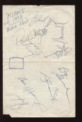 1973 Miami Dolphins Signed Cut 10 Sigs PSA/DNA Loa