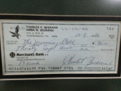 Chuck Bednarik Autographed Framed Personal Cheque