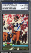 Signed Dermontti Dawson Photograph - 1991 Stadium Club AUTHENTIC STOCK - PSA/DNA Certified - Autographed NFL Photos