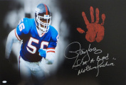 Lawrence Taylor Hand Print Stretched Canvas Signed Authenticated Handprint - JSA Certified - Autographed NFL Art