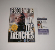 PACKERS Reggie White signed book COA AUTO Autographed Green Bay In the Trenc - JSA Certified - NFL Autographed Miscellaneous Items