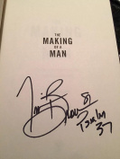 Tim Brown Autographed Book The Making Of A Man Oakland Raiders Hall Of Fame Sign - NFL Autographed Miscellaneous Items