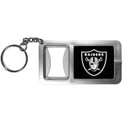 NFL Oakland Raiders Flashlight Key Chain with Bottle Opener