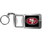 NFL San Francisco 49Ers Flashlight Key Chain with Bottle Opener