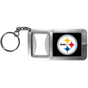 NFL Pittsburgh Steelers Flashlight Key Chain with Bottle Opener