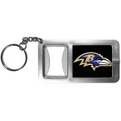 NFL Baltimore Ravens Flashlight Key Chain with Bottle Opener