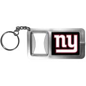 NFL New York Giants Flashlight Key Chain with Bottle Opener