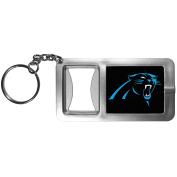 NFL Carolina Panthers Flashlight Key Chain with Bottle Opener