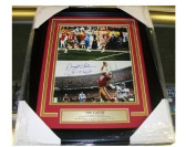 Joe Montana Dwight Clark The Catch Autographed Reprint Framed 8x10 Photo 15mers