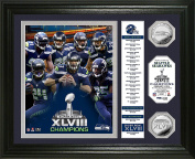"NFL Seattle Seahawks Super Bowl 48 Champions ""Banner"" Photo Minted Coin, 46cm x 36cm x 7.6cm , Silver"