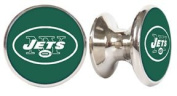 New York Jets NFL Stainless Steel Cabinet Knob / Drawer Pull