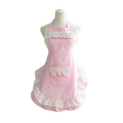 French Maid Aprons for Women Vintage Kitchen Apron Halter Top Backless Apron