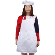 Andux Zone Child's Chef Hat Apron Set Children's Kitchen Cooking Baking Wear Kit (Apron + hat) ETWQ-01