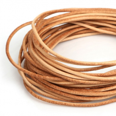 Sunny Hill 3mm Genuine Leather Cord For Bracelet Beading Jewellery Making 5.5 Yards (Dark brown)