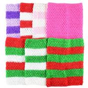 Aisila® Pack of 7 23cm Handmade Baby Girl Silk Crochet Tutu Tube Top Chest Wrap for Toddler Infants